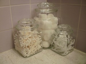 Superior Reusing Old Glass Jars In The Bathroom