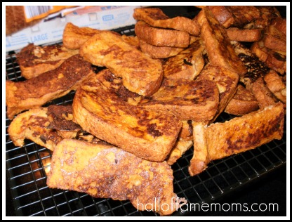 Pumpkin-Molasses French Toast Sticks: eat now or freeze for later.
