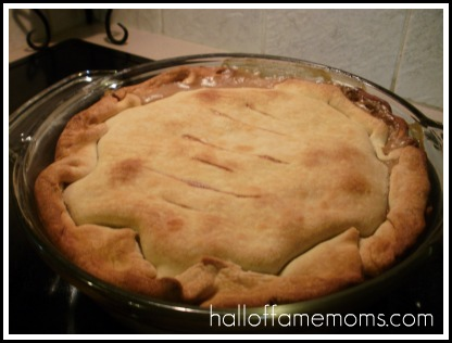How to make a ham pot pie.