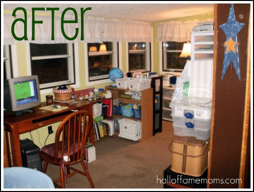 How i re organized my small homeschool room before and for Homeschool dining room ideas
