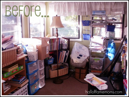 How I Re Organized My Small Homeschool Room Before And