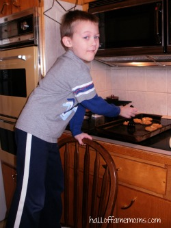 Baking cookies with my boy.