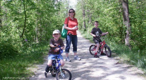 Walk or ride your bike at the Ohio & Erie Canalway Tow Path.