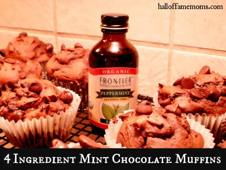 Easy Mint Chocolate Chocolate-Chip Muffins