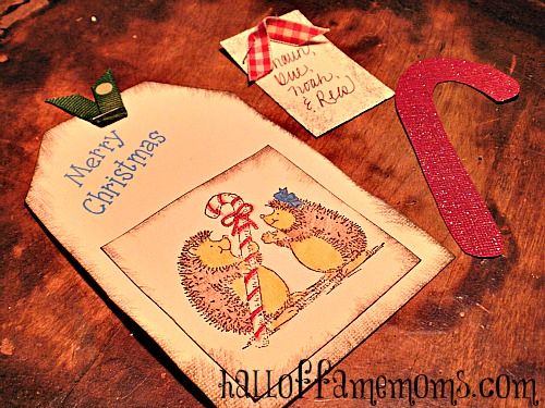 Simple homemade Christmas cards.