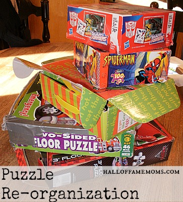 How to re-organize your kids' puzzles.