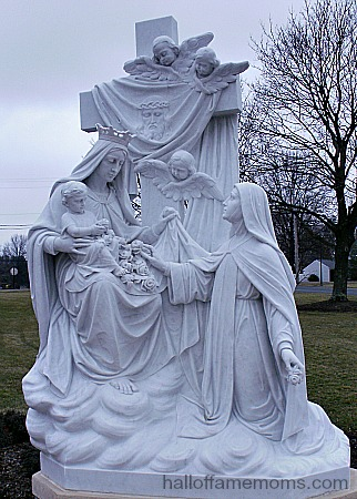Statue of St. Theresa and Our Lady of Mt. Carmel
