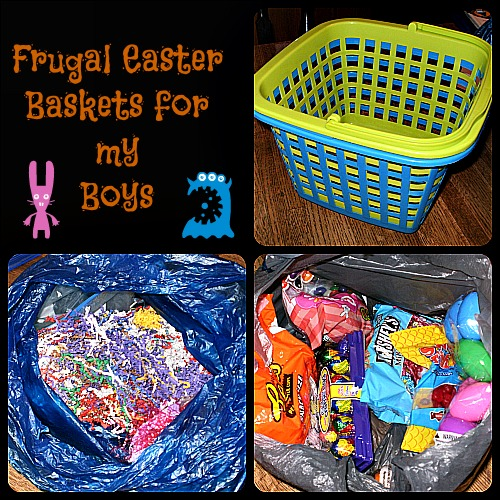 my frugal, simple easter baskets