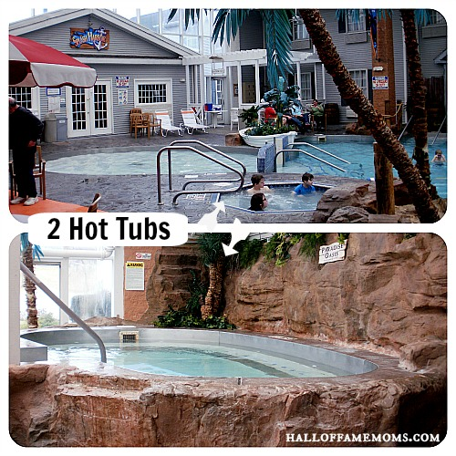 Splash Harbor has two hot tubs.