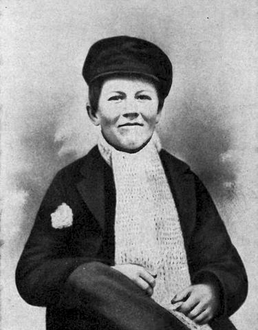 Thomas Edison as a child.