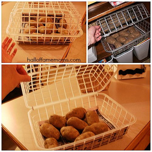 diy potato and onion basket