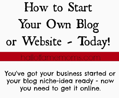 how to start a blog or website