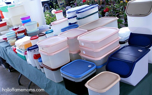tupperware at the Hartville Flea Market, Ohio
