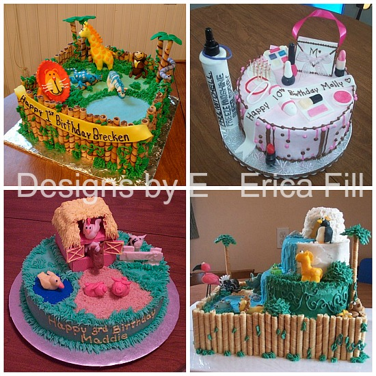 gorgeous detailed cakes