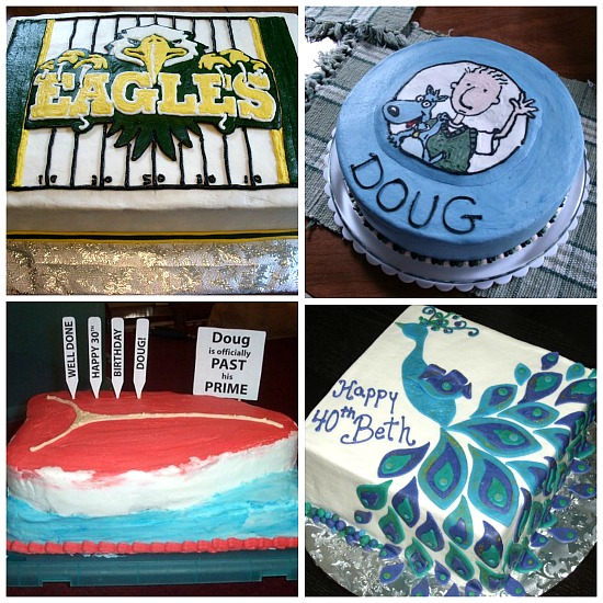 unique novelty cakes, school mascot cakes