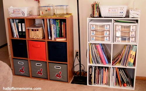 homeschooling with modified workbox system