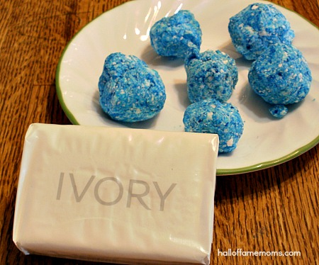 ivory soap microwave experiment - soap balls