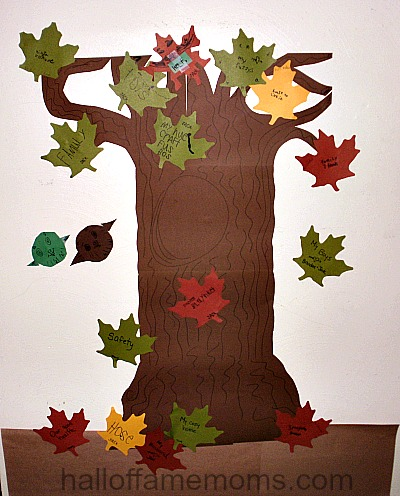 thankful tree wall craft