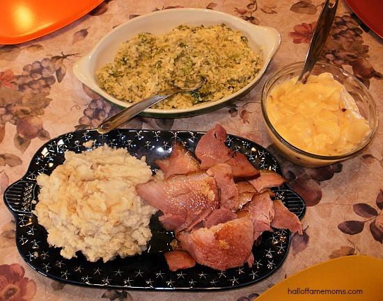 delicious HoneyBaked Ham dinner