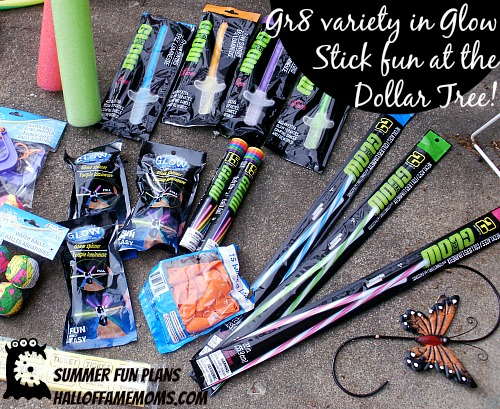 Summer fun games: Glow Stick heaven - found at the Dollar Tree