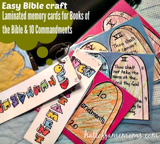 Easy Bible crafts: 10 Commandments, Books of the Bible ...