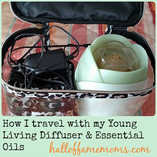 How to pack your diffuser and essential oils for travel.