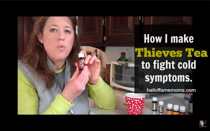 How to make Thieves tea with essential oils.