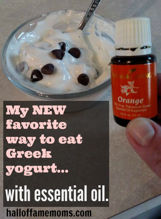 Delicious Greek Yogurt with Orange Young Living essential oil.