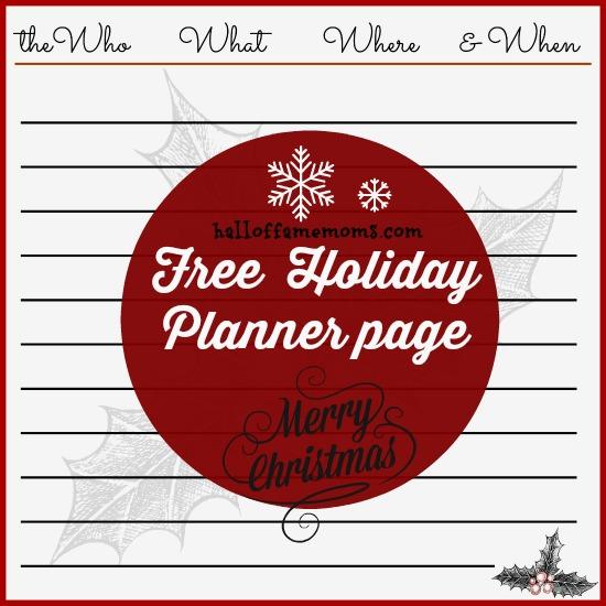 #Freeprintable for Christmas #planner