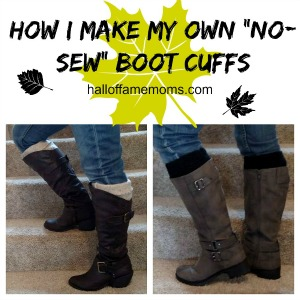 #DIY No-Sew Boot Cuffs