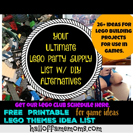 Your Ultimate Lego Party Supply List and More