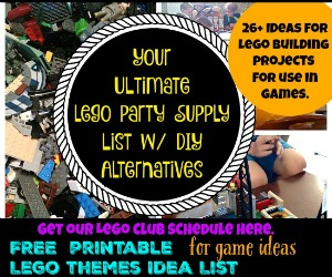 Ultimate Lego Party Supply List & FREE Printable Ideas