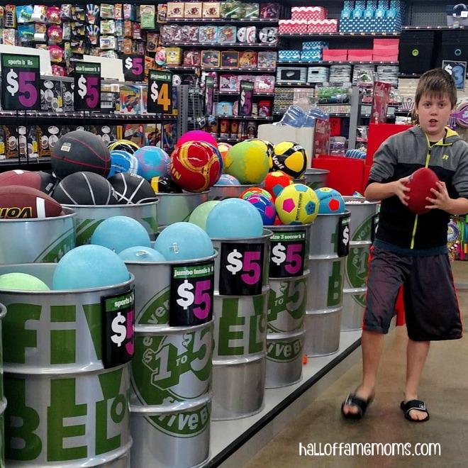 My son had a ball at Five Below :) #shop5b #ad
