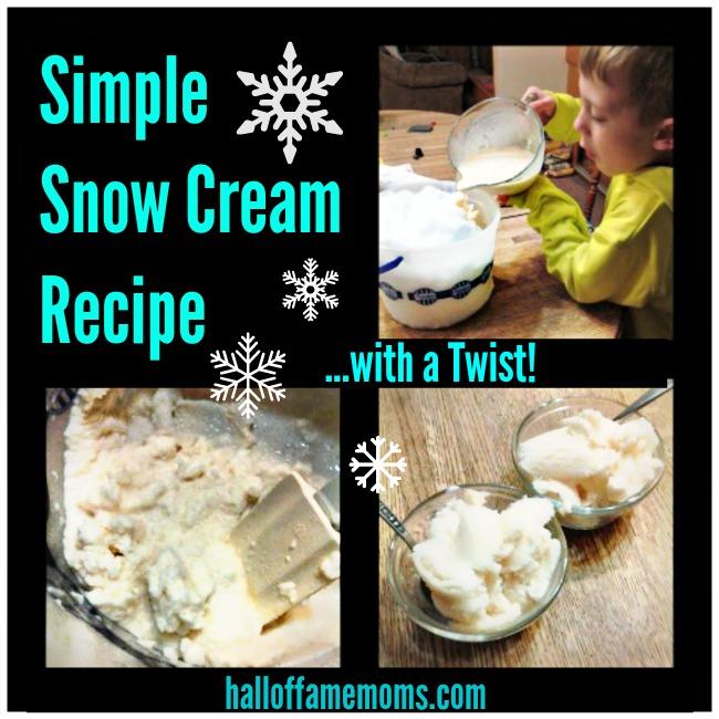 Simple Snow Cream Recipe with a Twist
