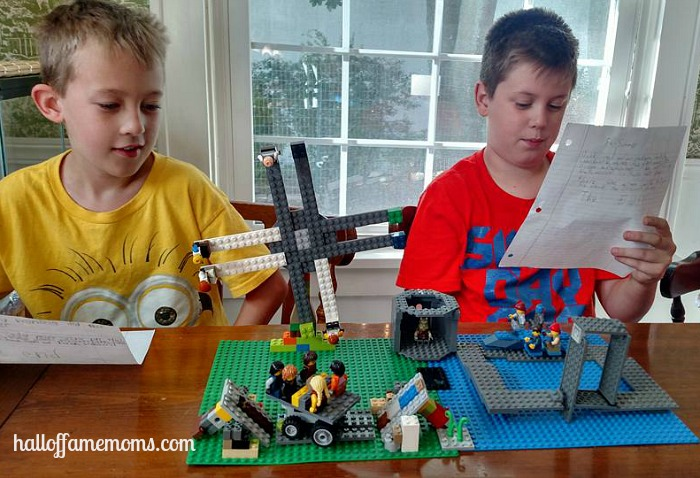Picture Tour of Our Homeschool Lego Club and Lego Projects