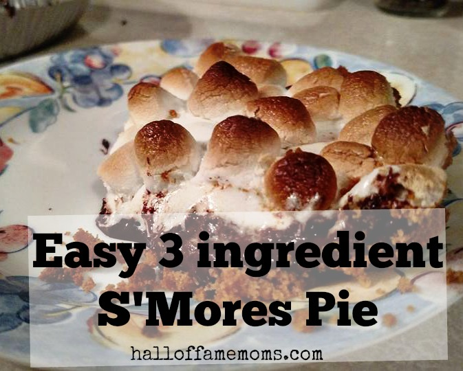 Easy 3 ingredient S'mores Pie