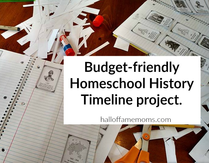 budget friendly history timeline for homeschooling