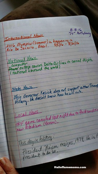 How we homeschool current events and geography with a notebook.