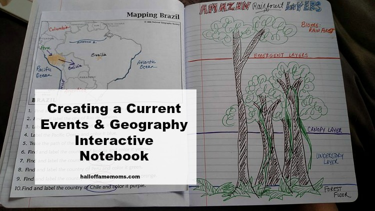 DIY Current Events & Geography Interactive Notebook