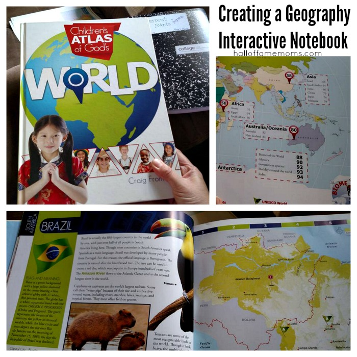 The Children's Atlas of God's World for our geography studies.