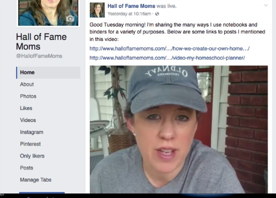 Join me on Facebook Live at my page http://www.facebook.com/halloffamemoms