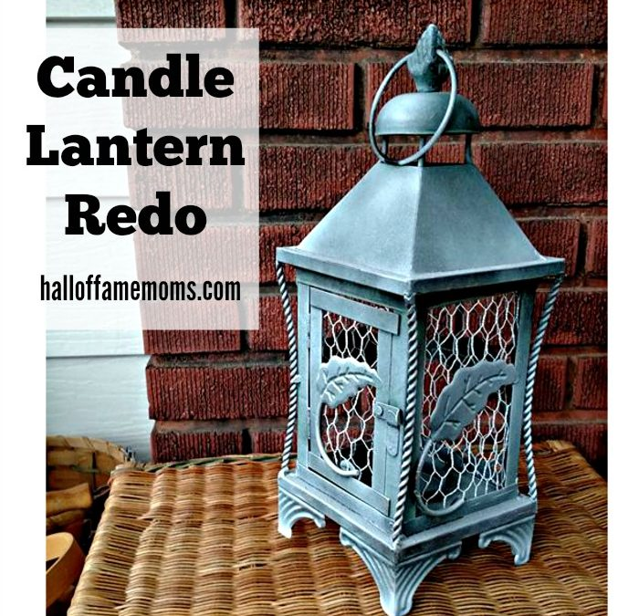 How to give a Candle Lantern a Cute Makeover