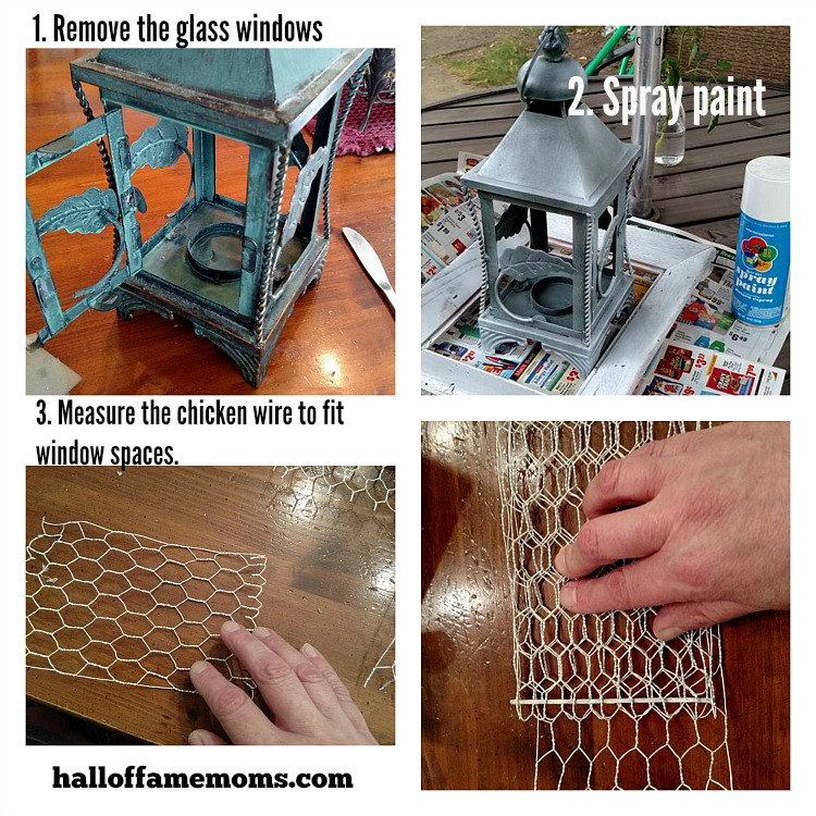 Cheap and easy way to fix up old decor for the table or fireplace.