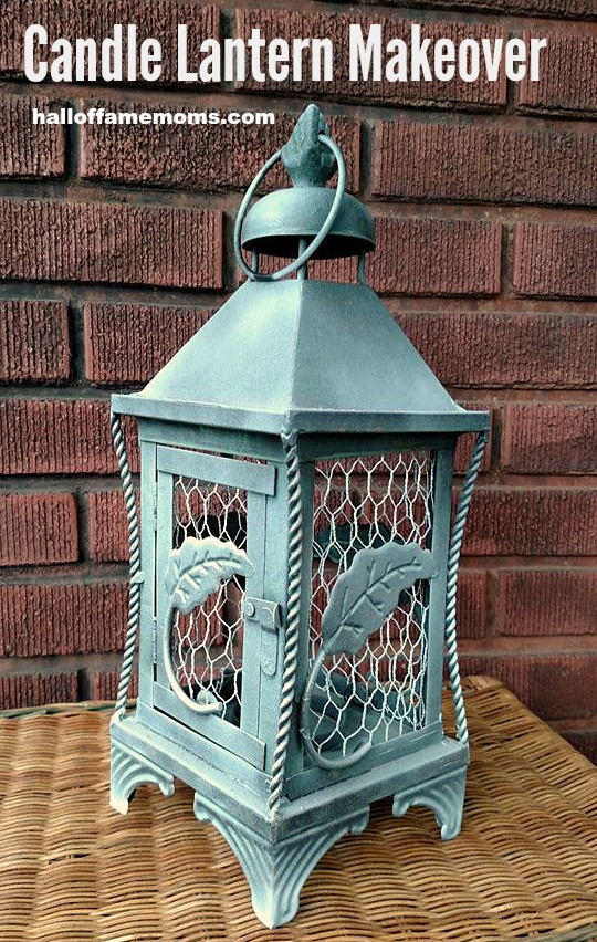How I used chicken coop wire to give my lantern a new look!
