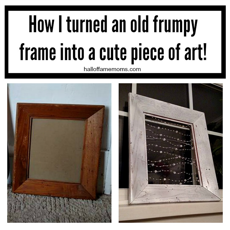 Old Frame Makeover -From Frumpy to Piece of Art!