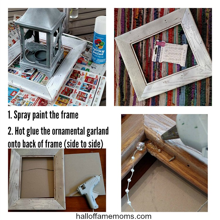 Simple diy home decor projects. Old Frame Makeover