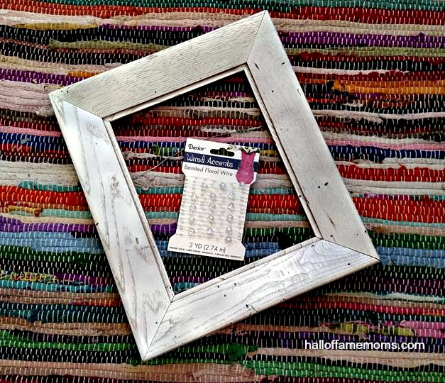 From frumpy old frame to piece of art!