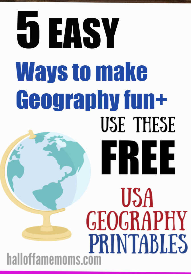 free homeschool geography pages, make geography fun