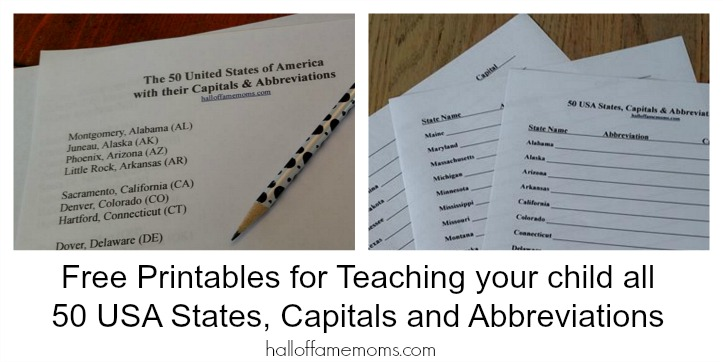 Free USA Geography Homeschool Printables + 5 EASY Ways to Make Learning FUN