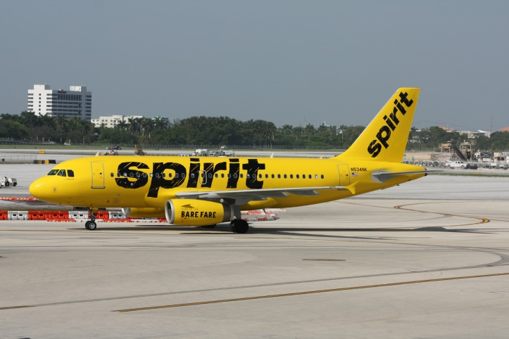 Spirit airlines offering non stop flights to 4 florida for Spirit airlines one way